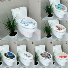 DIY Toilet Seat Wall Sticker Home Vinyl Art PVC Washroom Sticker Bath Room Decal