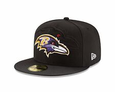 BALTIMORE RAVENS  NEW ERA BLACK 2016 SIDELINE OFFICIAL 59FIFTY FITTED HAT