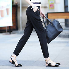 Womans Casual Ankle Haroun Pants Large Size Slim Fit Loose Stylish Spring Summer