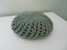 BNWT MONSOON GIRLS GREEN WOOL OPEN KNIT RETRO BERET BOHO HAT SIZE 3-6 6-13 YEARS