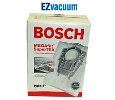 Genuine Bosch Type P MEGAfilt Super TEX Vacuum Cleaner Bags BBZ52AFP2U # 462586