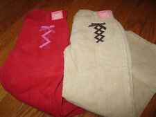 NWT Gymboree Peruvian Doll Corduroy Tan or Red Pants Girls 6S, 6 slim
