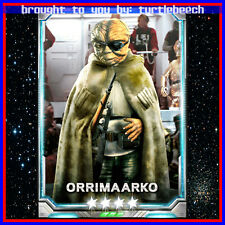 Star Wars Force Collection SWFC 4-Star Orrimaarko 8/15 Evo Max Skill 40 Guide