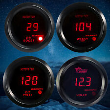 "2"" 52mm HS Red LED Oil Press/PSI Boost/Water Temp/ Volt Gauge For Car UK"