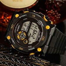 OHSEN Military Mens Quartz Day Date Alarm LED Digital Sport Watch Waterproof