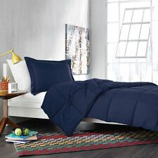 LUXURY 600TC 300GSM FIBER FILL 1PC COMFORTER NAVY BLUE SOLID 100%EGYPTIAN COTTON