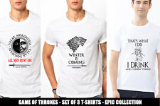 GAME OF THRONES TV Series UNISEX T-Shirt Set of 3 Tees Winter is Coming
