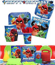 NEW Angry Birds Birthday Party Supplies Tableware Plates Tablecover Napkins Cups