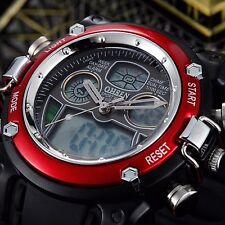 OHSEN Military Heavy Duty Dual Time Digital Alarm Sports Analog Mens Wrist Watch