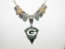 Choice of NFL Team Charm Necklaces : Green Bay Packers or Arizona Cardinals