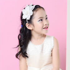 Kids Girl Large Feather Floral Fascinator Headband Hair band Dressy Party xg