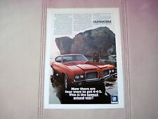 1972 OLDSMOBILE 442 COUPE - ORIGINAL PRINT CAR AD - EXCELL CONDITION