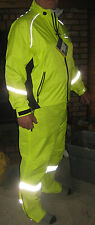 Showers Pass, Neon Yellow Club Pro Waterproof Cycling Jacket and Pants w/ vest