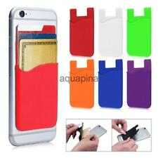 Silicone Wallet Credit ID Card Adhesive Holder Case Skin Sticker for Cell Phone