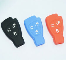 Silicone Key Fob Case Cover holder For Mercedes Benz B C E ML S CLK CL 3B 3BT