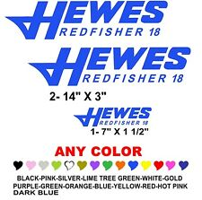 HEWES REDFISHER 18 boat stickers decals (ANY COLOR) FISH FISHING