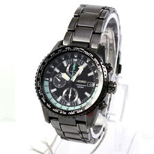 Seiko Analog Casual Mens Chronograph  Black JAPAN Watch SNDD19P1