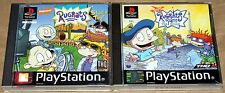 Rugrats In Paris & Studio Tour Ps1 Playstation 1 PsOne Complete With Manuals