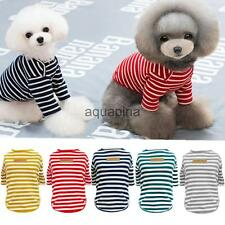 Dog Puppy Cat Classic Stripe Summer T-Shirt Autumn Sweater Pet Apparel Clothes