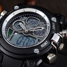 OHSEN Men's Military Heavy Type Digital Dual Time Alarm Date Quartz Wrist Watch