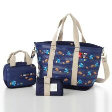 DISNEY Finding Nemo 2way Mother Shoulder Tote Bag Pouch Purse set Japan E2565