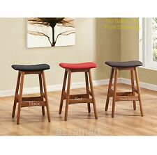 Counter Height Bar Stools Barstools Backless Modern Kitchen Pub Chair 2-Set 24""