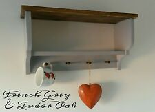Shabby Chic Vintage Farmhouse Shelf Kitchen Shelving Unit Shaker Pegs from£36.99