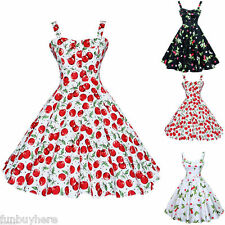 Vintage Style 50s 60s 70s Womens Rockabilly Housewife Dance Swing Pinup Dress