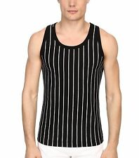 $146 NWT NEW Dolce & Gabbana Stripes and Pois Black & White Tank Top