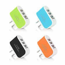 3 USB Port Wall Home Travel AC Charging Charger Adapter Cable For Samsung iPhone