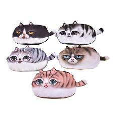 Cute Cat Face Tail Coin Purse Kids Wallet Bag Change Pouch Key Holder WKAU