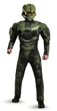 Halo Deluxe Master Chief Adult Mens Plus Size Costume, Green, Disguise