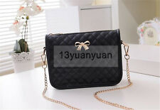 Fashion Women Synthetic Leather Casual Bow shoulder Bag Cross Body Bag Handbag