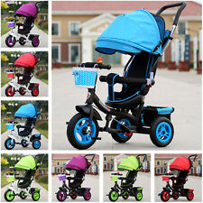 Baby Child Three Wheel Jogger Natural rubber Pram Stroller Sun Shade Tricycle