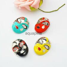 Fashion New Mini Cute Crystal Mask Brooch Classical Smiling Face Mask Brooch