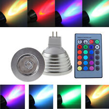 MR16 3W 16 Color Changing RGB LED Light Bulb with Remote Control Dimmable Lamp