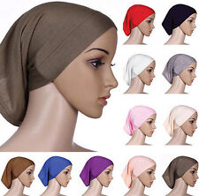 Head Scarf Women Islamic Cover Hijab Cotton Headwrap Bonnet Muslim Underscarf