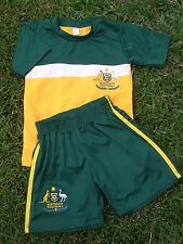 AUSTRALIA Kids Soccer Football HOME Jersey & Shorts in 6 sizes New Socceroos KIT