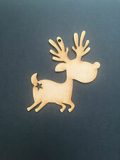 10 x Christmas Reindeer Wooden MDF Blanks Christmas decorations Craft Tags