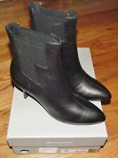 NEW in BOX Rockport Womens Lianna Chelsea Pointed Toe Ankle Boots Black Leather