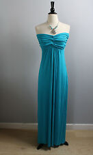 Strapless Bandeau Elegant Full Long Maxi Dress  Made in USA