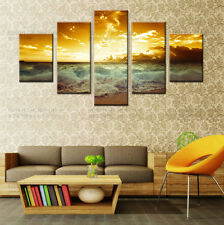 HUGE MODERN ABSTRACT WALL DECOR ART OIL PAINTING Prints ON CANVAS -Sea Scenery