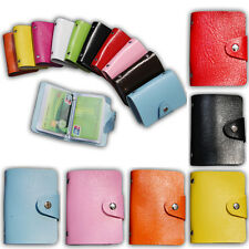 Girl Unisex 24 Card ID Credit Card Holder PU Leather Pocket Purse Wallet Chic