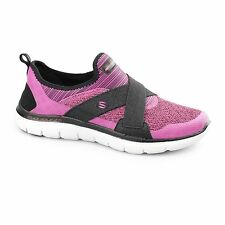 Skechers FLEX APPEAL 2.0-NEW IMAGE Ladies Womens Sports Trainers Hot Pink/Black