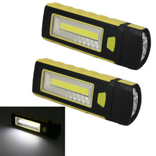 2PCS COB LED USB Rechargeable Inspection Light Magnetic Stand Hook Work BU