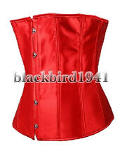 L11 SEXY RED WEDDING BRIDAL CLASSIC UNDERBUST SATIN CORSET BUSTIER SIZE S - 6XL