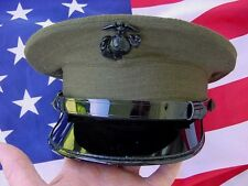 USMC Mans  Dress Green Uniform Barracks Cap / Cover, size 6 7/8