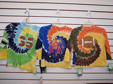 Toddler & Boys Flapdoodles Long Sleeved Tie Dyed Sports Shirts Size 2T - 7X