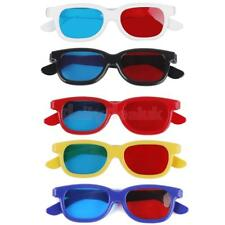 5 Pairs Adult/Kids Red Blue 3D Glasses Anaglyph Glasses For 3D TV Movie DVD