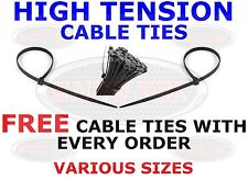 CABLE TIES HIGH QUALITY ZIP TIES PLASTIC NYLON VARIOUS SIZES FREE TIES ON ORDERS